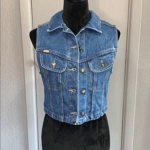 EUC 🖤 Express Jeans Denim Vest Size Small
